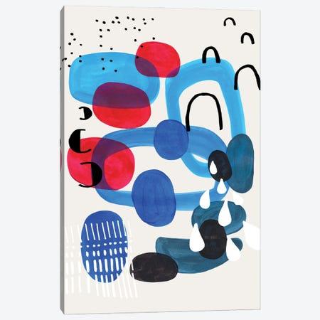 Ocean Pebbles Storm Canvas Print #ENS163} by EnShape Canvas Art Print