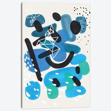 Sea Pebble Storm Canvas Print #ENS165} by EnShape Canvas Wall Art