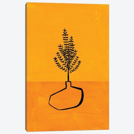 Antique Yellow Vase Canvas Print #ENS214} by EnShape Canvas Art