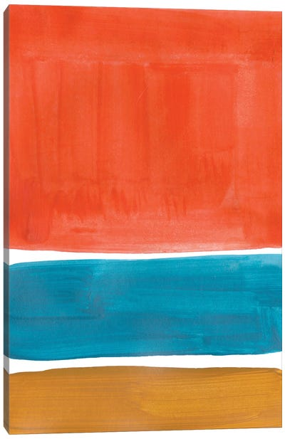 Orange Teal Rothko Remake Canvas Art Print