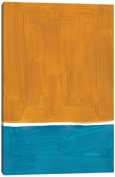 Gold Teal Rothko Remake Canvas Art Print