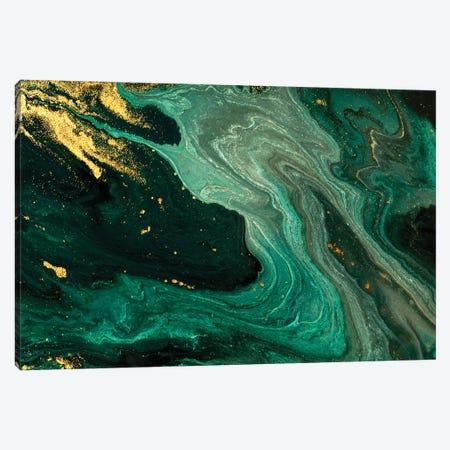Gold Mine Green Marble Canvas Print #ENS22} by EnShape Canvas Art Print