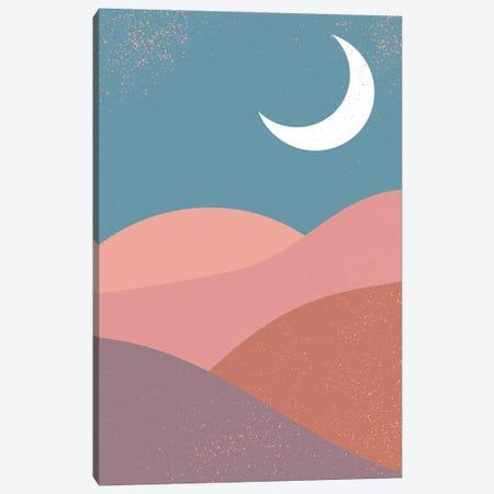 Mid Century Moon Mountains Canvas Print #ENS235} by EnShape Canvas Art
