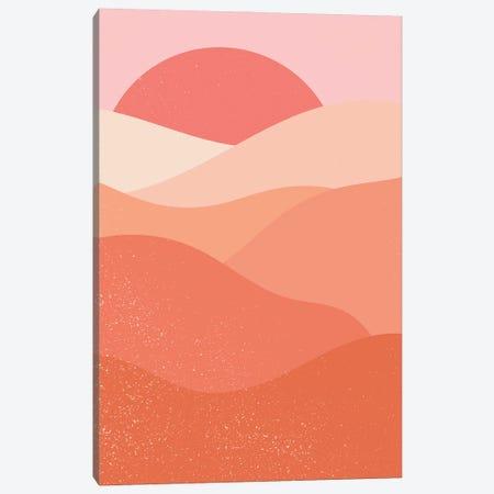 Pastel Red Sunset Canvas Print #ENS236} by EnShape Canvas Artwork