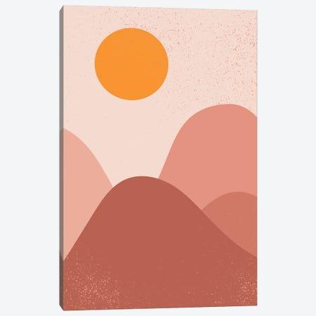 Sunrise Over Mountains Canvas Print #ENS237} by EnShape Canvas Art