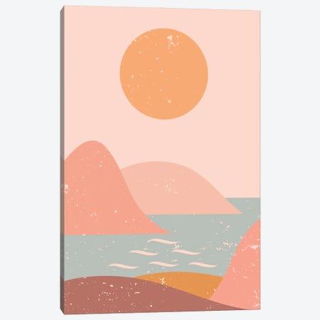 Ocean Mountain Sun Canvas Print #ENS238} by EnShape Canvas Print