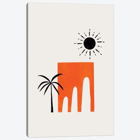 Orange Ancient Ruin Canvas Print #ENS241} by EnShape Canvas Art