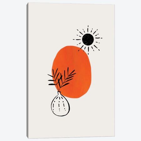Minimal Orange Plant Canvas Print #ENS245} by EnShape Canvas Print