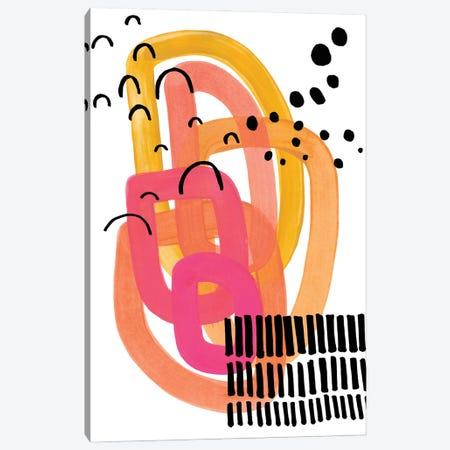 Funky 70's Block Party Canvas Print #ENS247} by EnShape Art Print