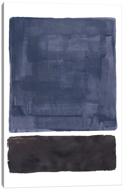 Rothko Remake Midnight Blue Canvas Art Print