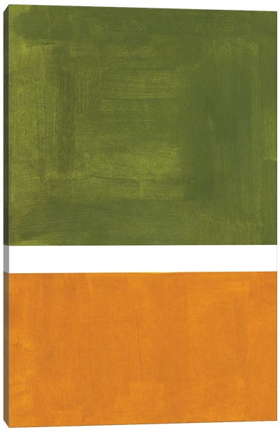 Olive Ochre Rothko Remake Canvas Art Print