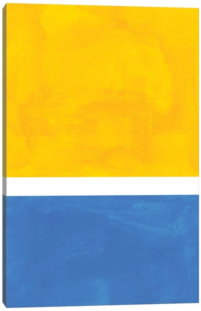 Yellow Blue Rothko Remake Canvas Art Print