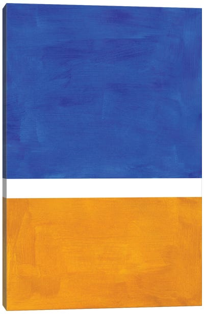 Cobalt Blue Rothko Remake Canvas Art Print