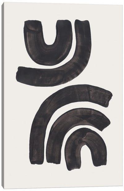 Ink Waves Canvas Art Print