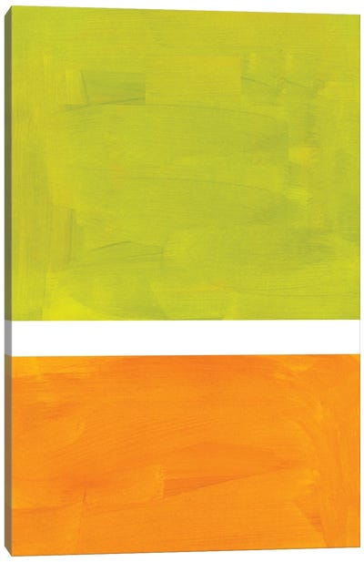 Lime Rothko Remake Canvas Art Print