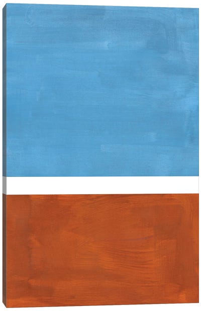 Dusty Blue Rothko Remake Canvas Art Print