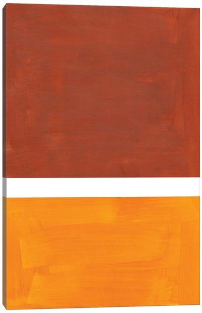 Raw Umber Rothko Remake Canvas Art Print