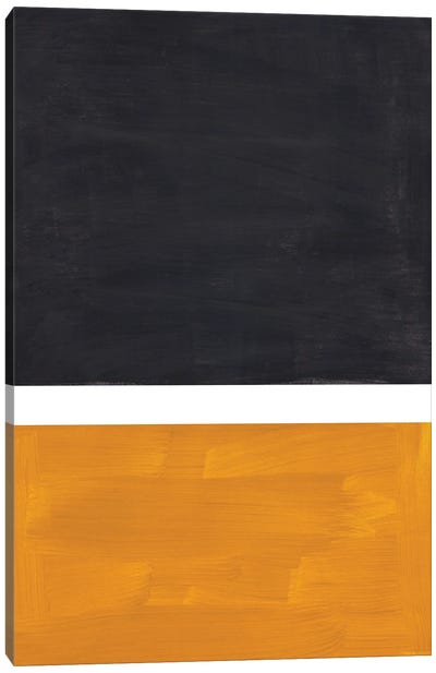 Black Rothko Remake Canvas Art Print