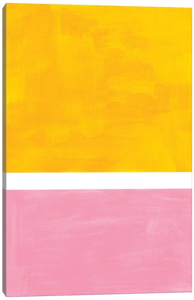 Yellow Pink Rothko Remake Canvas Art Print