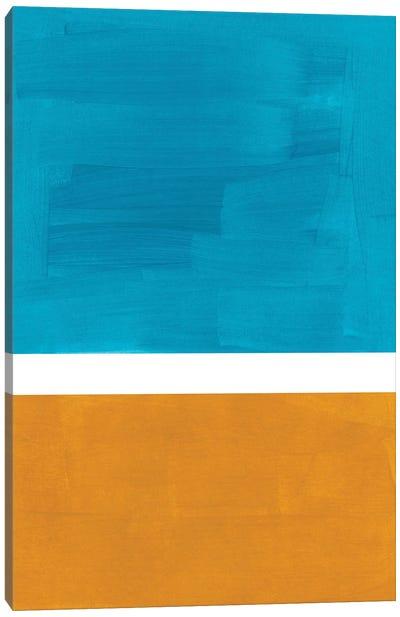 Teal Rothko Remake Canvas Art Print