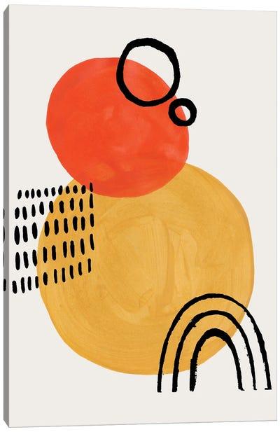 Sun Eclipse Yellow & Orange Canvas Art Print