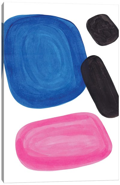 Magenta Blue Canvas Art Print