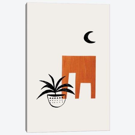 Midcentury House Plant Canvas Print #ENS5} by EnShape Canvas Artwork