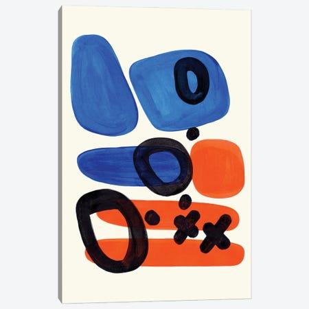 Orange Hazard Canvas Print #ENS68} by EnShape Art Print
