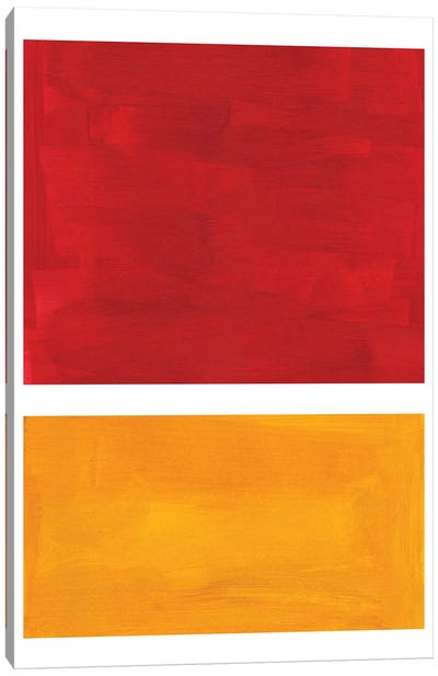 Rothko Remake Burnt Red Canvas Art Print