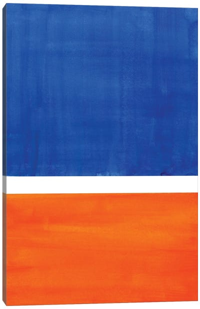 Rothko Remake Orange Blue Canvas Art Print