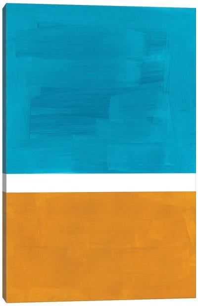 Rothko Teal Gold Canvas Art Print