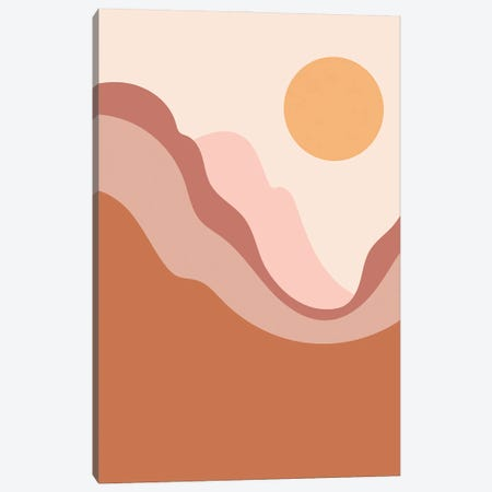 Mountain Sun Canvas Print #ENS86} by EnShape Canvas Artwork