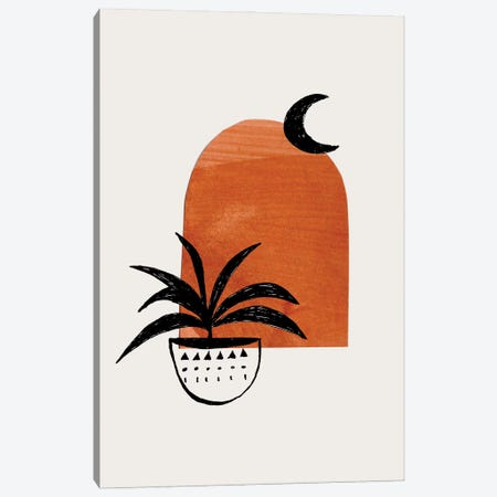 Raw Umber Moon Plant Canvas Print #ENS88} by EnShape Canvas Art Print
