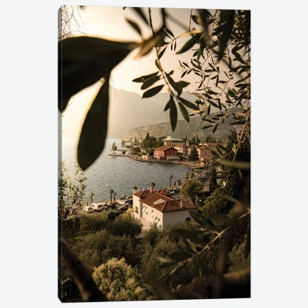 Framed Torbole Lake Garda Canvas Print #ENZ102} by Enzo Romano Canvas Art Print