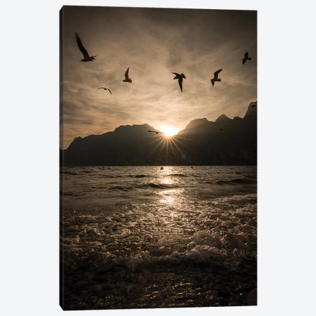 Lake Garda I Canvas Print #ENZ103} by Enzo Romano Canvas Print