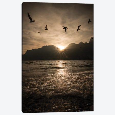 Lake Garda I Canvas Print #ENZ103} by Enzo Romano Canvas Print