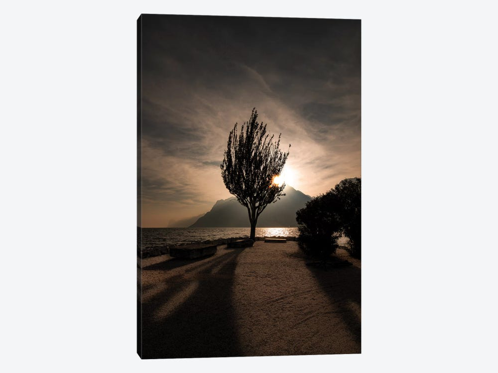 Lake Garda III by Enzo Romano 1-piece Canvas Wall Art