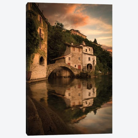 Nesso Lake Como I Canvas Print #ENZ106} by Enzo Romano Canvas Artwork