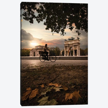 Arco Della Pace, Milan 3-Piece Canvas #ENZ115} by Enzo Romano Canvas Print