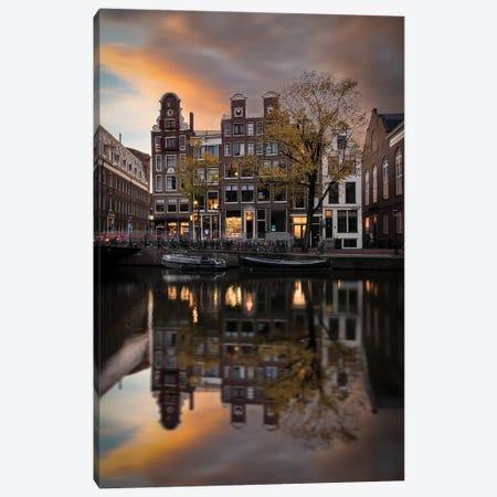Amsterdam'S Reflections Canvas Print #ENZ116} by Enzo Romano Canvas Art Print