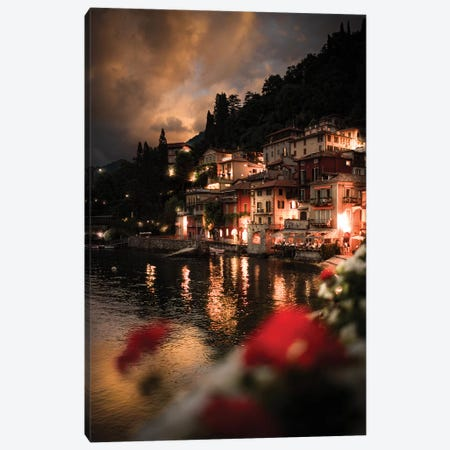 Lights On Varenna Canvas Print #ENZ119} by Enzo Romano Canvas Artwork