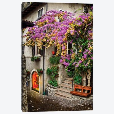 Limone sul Garda I Canvas Print #ENZ11} by Enzo Romano Canvas Print