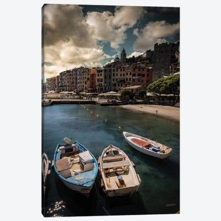 Panorama Of Porto Venere Canvas Print #ENZ120} by Enzo Romano Canvas Art Print