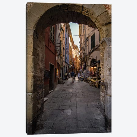 Street Of Porto Venere Canvas Print #ENZ121} by Enzo Romano Art Print