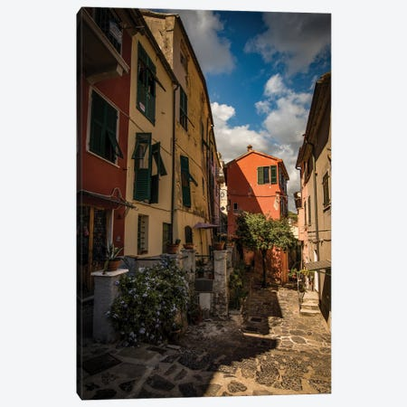 Street Of Porto Venere II Canvas Print #ENZ124} by Enzo Romano Canvas Art