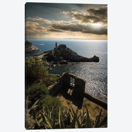 Church Of St. Peter, Porto Venere II Canvas Print #ENZ125} by Enzo Romano Canvas Wall Art