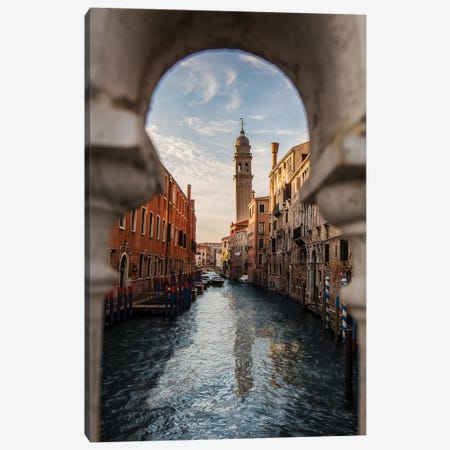 Belltower Of San Giorgio Dei Greci, Venice Canvas Print #ENZ129} by Enzo Romano Art Print