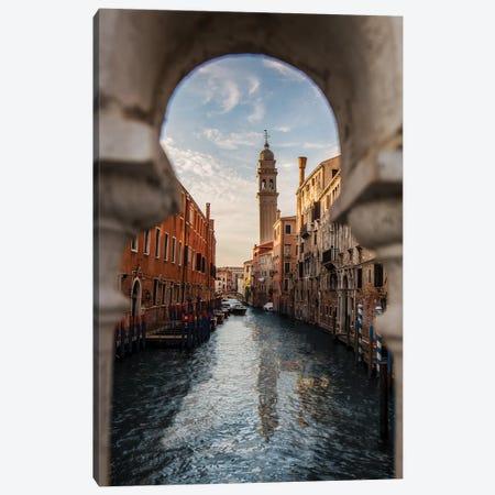 Belltower Of San Giorgio Dei Greci, Venice Canvas Print #ENZ129} by Enzo Romano Art Print