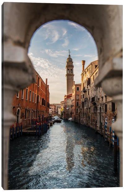 Belltower Of San Giorgio Dei Greci, Venice Canvas Art Print