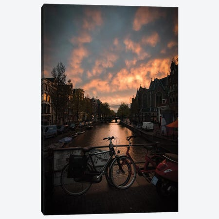 Sunset In Amsterdam Canvas Print #ENZ138} by Enzo Romano Canvas Wall Art
